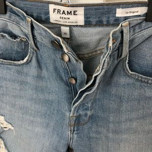 Frame Denim Le Original Ripped Jeans